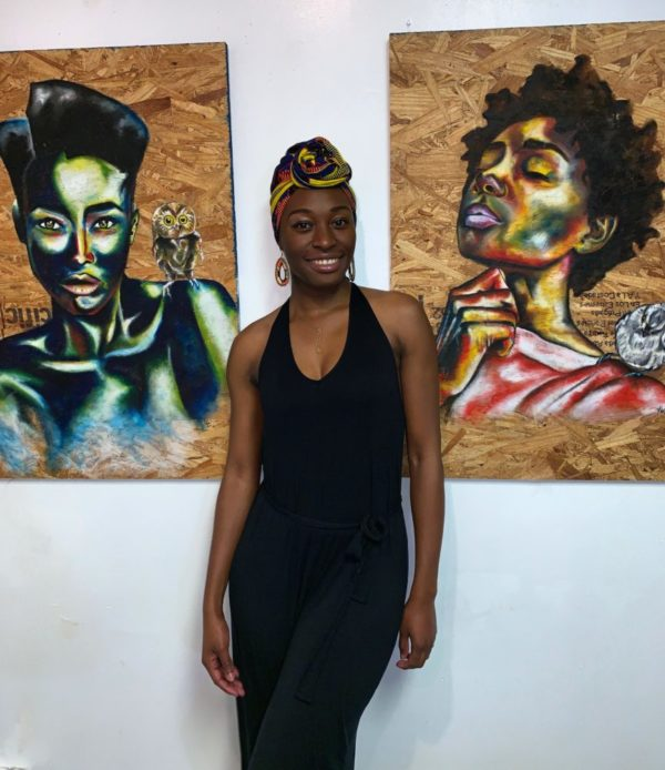 Meet Kiarra, An Eco-Consious Painter Giving New Life To Recycled Wood